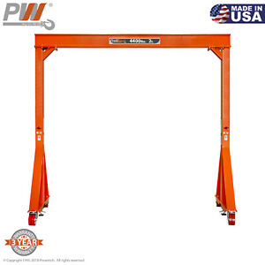 Prowinch Manual Gantry Crane 2 Ton 12 Ft Height 12 Ft Span Made In Usa
