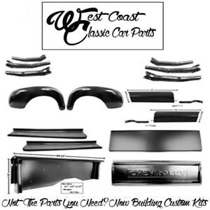 1947 1953 Chevy Truck Short Bedsides Rr Fenders Chevy Tailgate Run Boards Apron