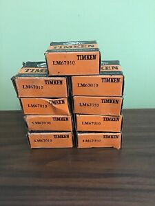 Timken Lm67010 Tapered Roller Bearing Cup Lot Of 9
