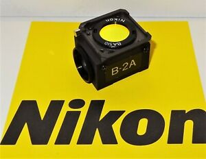 Nikon B 2a Fluorescent Microscope Filter Cube For Labophot Optiphot Microphot
