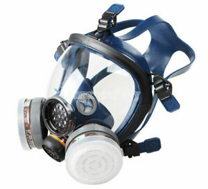 Silica Gel Full Face Anti Dust Respirator Single Canister Gas Mask st s100 3