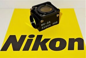 Nikon Bv 2a Fluorescent Microscope Filter Cube For Labophot Optiphot Microphot