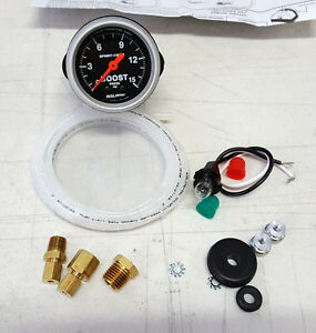 Sale Auto Meter Sport Comp 0 15 Psi Mechanical Boost Pressure Gauge 2 1 16 52mm