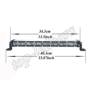 14 Inch Cree Led Work Light Bar Spot Off Road Jeep Tractor Truck Suv 4wd Lamp