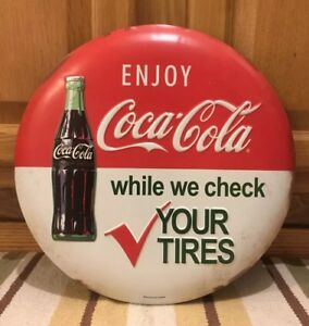 Coca Cola Coke Soda Bottle Ice Cold Diner Garage Shop Tires Mechanic Wall Decor