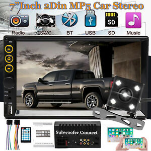 Fits Chevy gmc Truck van suv Bluetooth Usb Radio Stereo Double 2 Din Dash camera