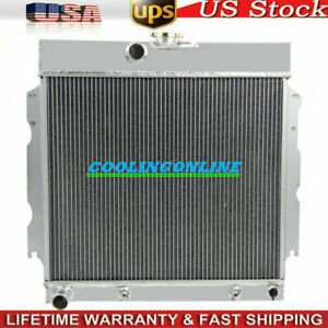 4row Aluminum Radiator For Dodge Charger Mopar Plymouth Valiant Cars 1963 1967