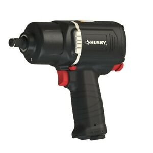 1 2 Impact Wrench High Low Torque Switch Molded In Buffers Ergonomic Design
