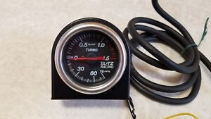 Mint Blitz 60mm Boost Gauge 1 5 Bar Jdm W harness And Stand