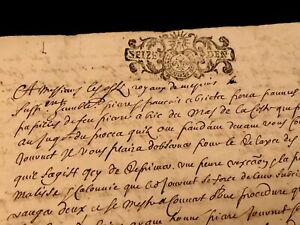 Autographed And Handwritten Document 1700s