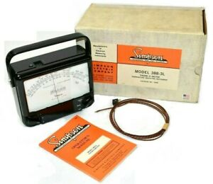 Simpson 388 3l Therm o meter Temperature Tester Model 388 New In Box 12460