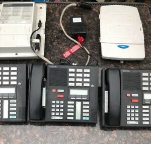 Lot Of 3 Norstar Meridian Nortel M7310 System Display Phones
