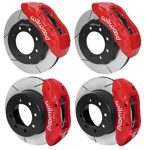 Wilwood Disc Brake Kit 13 17 Ford F 250 F 350 15 Rotors Red 6 Piston Calipers