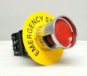 New Siemens 52aaf Push Twist Red Emergency Stop Button
