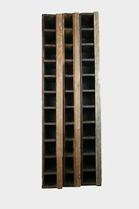 Vintage Rustic Wooden Cubby Cabinet Organizer Parts Farmhouse 11 Cubbies