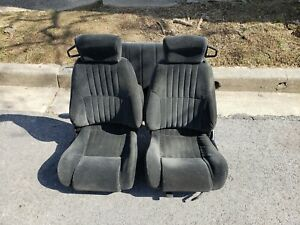 1993 2002 Firebird Trans Am Front Seats And Back Seats Black W Tracks Lh Rh