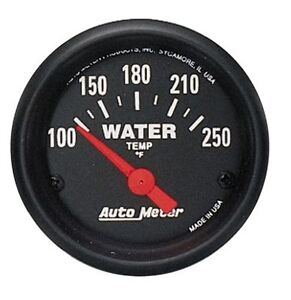 Auto Meter Z Series Water Temperature Temp Gauge 2 1 16 52mm 100 250 Deg F