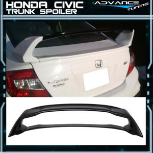 12 15 Honda Civic Mugen Style Trunk Spoiler Painted Crystal Black Pearl Abs