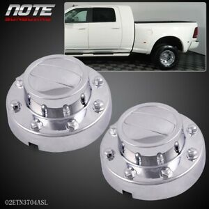 For Dodge Ram 3500 1 ton Dually Rear Alcoa Alloy Wheel Center Caps 2011 2016