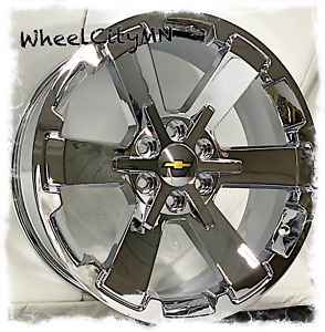 22 X9 Inch Chrome 2017 Chevy Silverado Rally 5662 Oe Replica Wheels 6x5 5 24