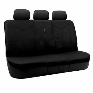 Rome Leather Pair Bench Seat Covers Black Split
