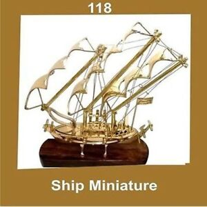 New Vintage Miniature Model Ship Brass Nautical Cdn
