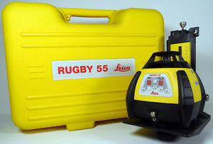 Leica Geosystems Rugby 55 Interior Laser Ir Remote Wall Mount Targets case
