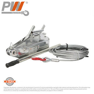 Prowinch Lever Wire Rope Puller Hoist 3520 Lbs 65 Ft Wire Rope