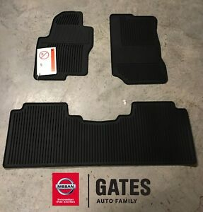 Nissan Frontier Crew Cab Oem Rubber All Weather Mats 2011 Up 999e1 Bx001bk