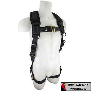Fall Protection Sw99280 hw Heavyweight Construction Safety Harness Padded 3x 4x