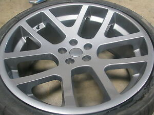 22 Inch Stagger Wheels Tires Dodge Srt Replica Gray Rims Challenger Charger 20
