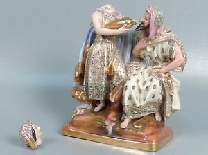 Antique 19 C French Paris Porcelain Figurine Arab Subject Matter Jacob Petit Pc