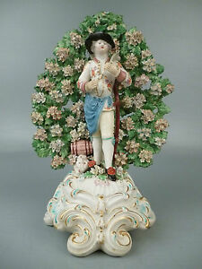Late 18 C English Porcelain Derby Bocage Figurine Farmer Harvest Autumn Pt