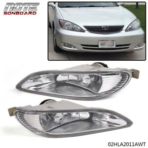 1 Pair For Toyota 05 08 Corolla 2002 2004 Camry Clear Bumper Driving Fog Lights