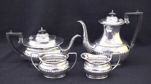 Sheffield England Silver Plated Tea Service