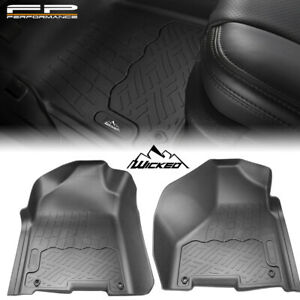 Wicked All Weather Floor Mats Liner For 09 18 Dodge Ram 1500 Quad Cab Front 2pcs