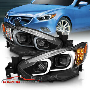 2014 2015 2016 2017 Mazda 6 2013 2016 Atenza Led Bar Projector Headlights Pair
