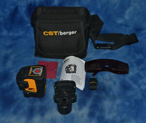 Cst berger Xp5s Self Leveling 5 Beam Laser Level W Case Pro Layout Tool