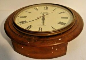 Large Vintage Style London Wall Clock Wooden Brass 2805