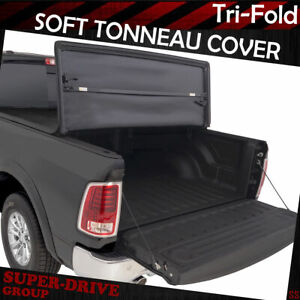 Tri Fold Soft Tonneau Cover For 2002 2008 Dodge Ram 1500 2500 3500 6 5 Ft Bed
