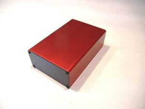 Aluminum Project Box Enclosure 2 x4 x6 Model Gk4 6 Red