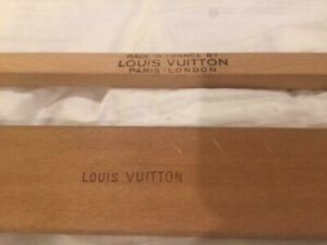 2 Antique Louis Vuitton Wood Suitcase Bag Steamer Wardrobe Trunk Hanger Hangers