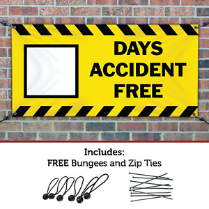 Half Price Banners Blank Days Accident Free Banner Indoor outdoor 2 x6