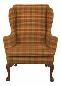43991ec Kittinger Cw 104 Claw Foot Colonial Williamsburg Wing Chair