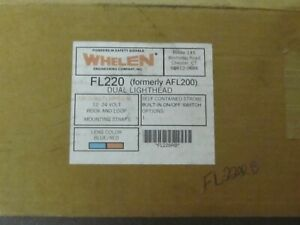 Whelen Flatlighter Fl220 Visor Strobe Lights Nos Afl220