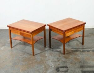 Mid Century Danish Modern Nightstands Borge Mogensen Soborg End Side Tables Teak