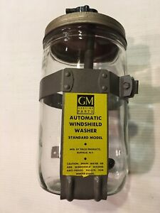 Nos 1955 1957 1958 1959 Truck Windshield Wiper Washer Jar Glass Bottle Accessory
