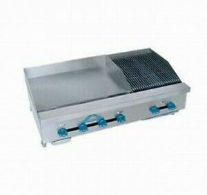 Comstock castle Fhp48 24t 2rb 48 Countertop Gas Griddle Charbroiler