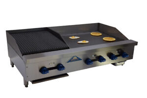 Comstock castle Fhp48 30 1 5rb 48 Countertop Gas Griddle Charbroiler