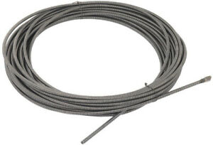 Solid Core Drain Cleaning Cable Cleaner 100 Ft Plumbing Snakes Integral Wound